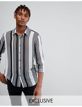 Reclaimed Vintage Inspired Shirt In White Stripe Reg Fit by Reclaimed Vintage