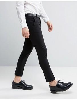 Asos Extreme Super Skinny Crop Smart Pants In Black by Asos