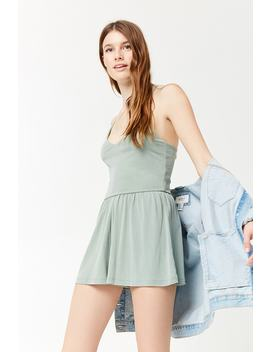 Cupro Knit Romper by Forever 21