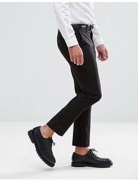 Asos Super Skinny Cropped Smart Pants In Black by Asos