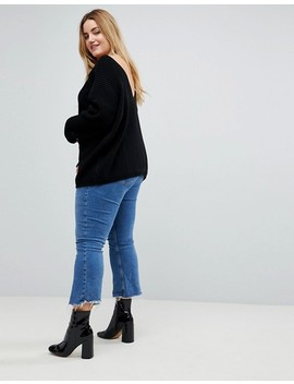Glamorous Curve Relaxed Sweater With Scoop Back by Glamorous