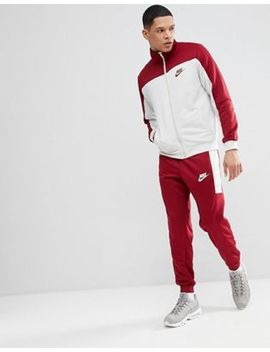 Nike Poly Tracksuit Set In Red 861774 677 by Nike