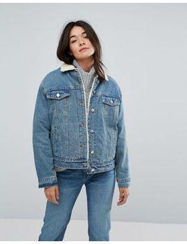 Pull&Amp;Bear Oversized Borg Denim Jacket by Pull&Bear