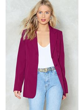 Pink Ahead Relaxed Blazer by Nasty Gal