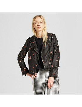 Women's Printed Moto Jacket   Who What Wear™ Floral Print by Who What Wear