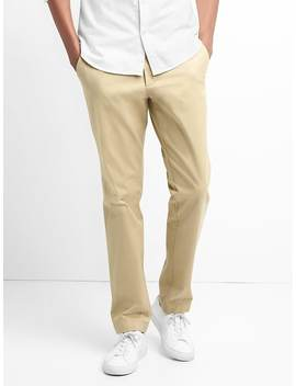 Original Khakis In Athletic Fit With Gap Flex by Gap
