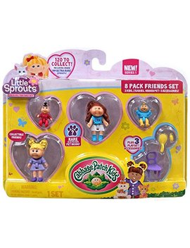 Cabbage Patch Kids Little Sprouts Friends Set 8 Pack Numbers 8 14 65 81 Series 1 by Cabbage Patch Kids