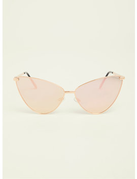 Rose Gold Extreme Cat Eye Sunglasses by Torrid