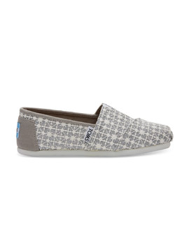 Silver Lace Glimmer Youth Classics by Toms