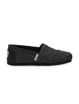Black Lace Glimmer Youth Classics by Toms