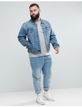 Asos Plus Denim Jacket In Light Wash by Asos