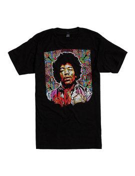 Jimi Hendrix Dots Portrait T Shirt by Hot Topic