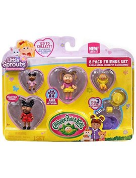 Cabbage Patch Kids Little Sprouts Friends Set 8 Pack Numbers 10 33 52 77 Series 1 by Cabbage Patch Kids