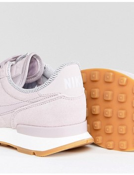 Nike Internationalist Suede Trainers In Pink by Nike