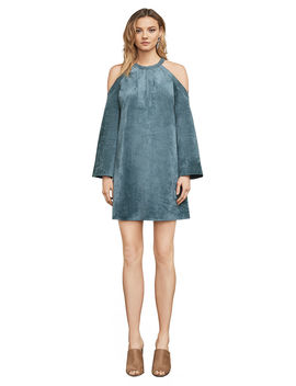 Laguna Faux Suede Cold Shoulder Dress by Bcbgmaxazria