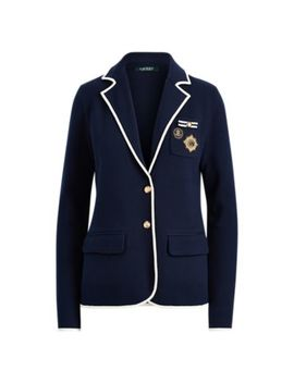 Crest Cotton Blend Blazer by Ralph Lauren