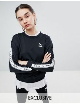 Puma Exclusive To Asos Sweatshirt With Taping In Black by Puma