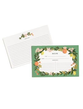 "Rifle Paper Co. Citrus Floral 4"" X 6"" Recipe Cards    Set Of 12 Cards by Plus Rifle Paper Co."