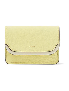Two Tone Textured Leather Cardholder by Chloé