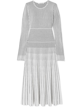 Sheridan Striped Merino Wool Blend Midi Dress by Elizabeth And James