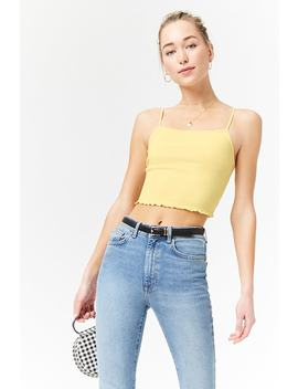 Cropped Lettuce Edge Cami by Forever 21