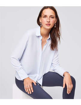 Rounded Collar Utility Blouse by Loft