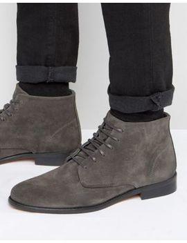 Walk London Harrington Suede Lace Up Boots by Walk London