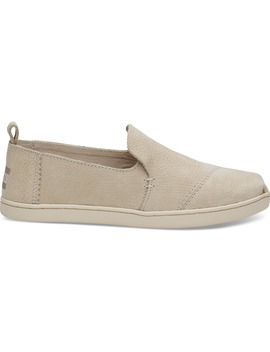 Birch Leather Women's Deconstructed Alpargatas by Toms