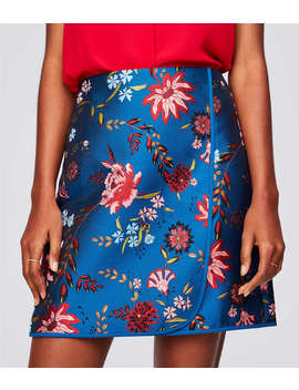 Wildflower Jacquard Wrap Skirt by Loft