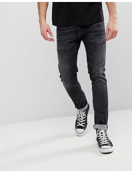 Nudie Jeans Co Tight Terry Jeans Black Streets Wash by Nudie