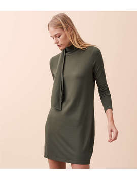 Lou & Grey Signaturesoft Turtleneck Scarf Dress by Loft