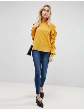 Y.A.S Sufia Ruffle Side Blouse by Y.A.S.