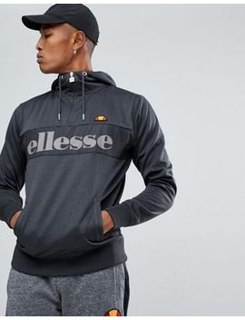 Ellesse Poly Tricot 1/4 Zip Hoodie With Logo by Ellesse