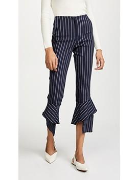 Spiral Hem Pinstripe Pants by Nicholas