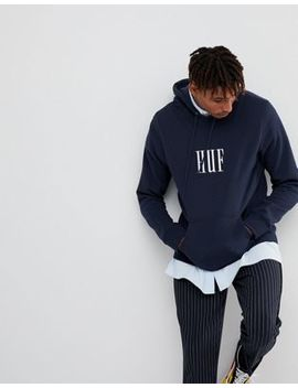 Huf Marka Hoodie With Large Embroidered Logo by Huf