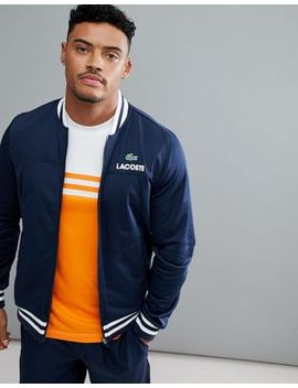 Lacoste Sport Zip Through Sweat Jacket In Navy by Lacoste