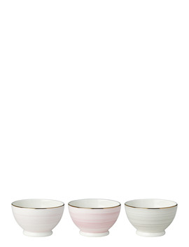 Charles Lane Blush Bowls, Set Of Three by Kate Spade