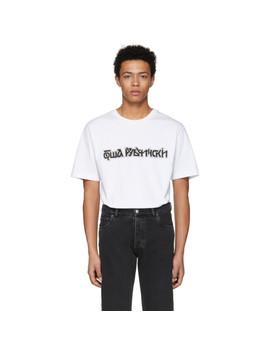 T Shirt à Logo Blanc by Gosha Rubchinskiy