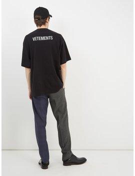 Staff Print Oversized T Shirt by Vetements