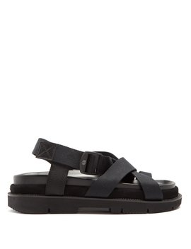 Multi Strap Canvas And Leather Sandals by Maison Margiela