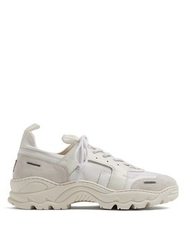 Contrast Panel Low Top Trainers by Ami