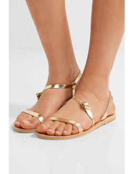 Niove Metallic Leather Sandals by Ancient Greek Sandals