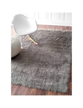 Nu Loom Faux Flokati Sheepskin Solid Soft And Plush Cloud Shag Rug (7'6 X 9'6) by Nuloom