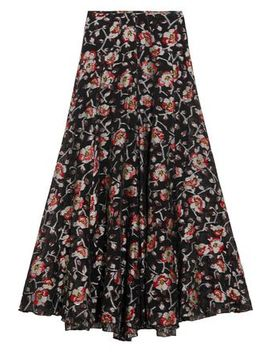 Peace Metallic Floral Jacquard Maxi Skirt by Isabel Marant