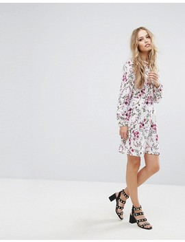 Vero Moda Tie Neck Floral Shift Dress by Vero Moda