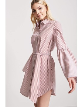 Pinstripe Shirt Dress by F21 Contemporary