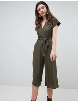 New Look Wrap Culotte Jumpsuit by New Look