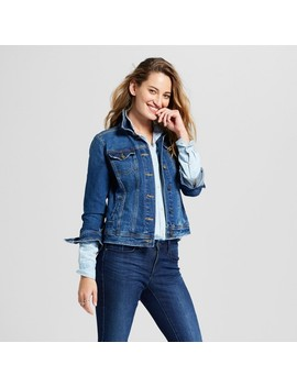 Women's Freeborn Denim Jacket   Universal Thread™ Medium Wash by Universal Thread™