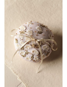 Field Of Flowers Ring Pillow by Bhldn
