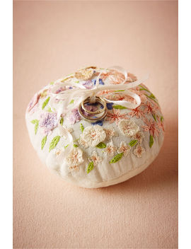 Floral Embroidered Ring Pillow by Bhldn